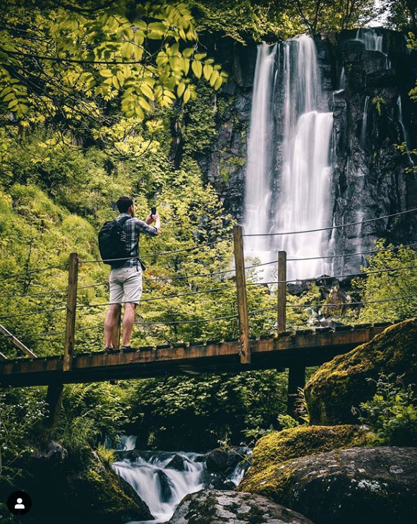Cascade Vaucoux Puy de Dôme nature pont