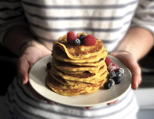 pancakes recette anti gaspi pain rassis framboise myrtille