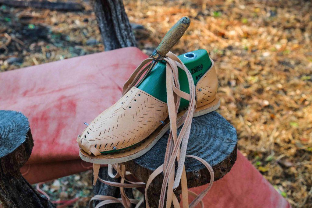 Mapache sandale fait main Mexique artisan
