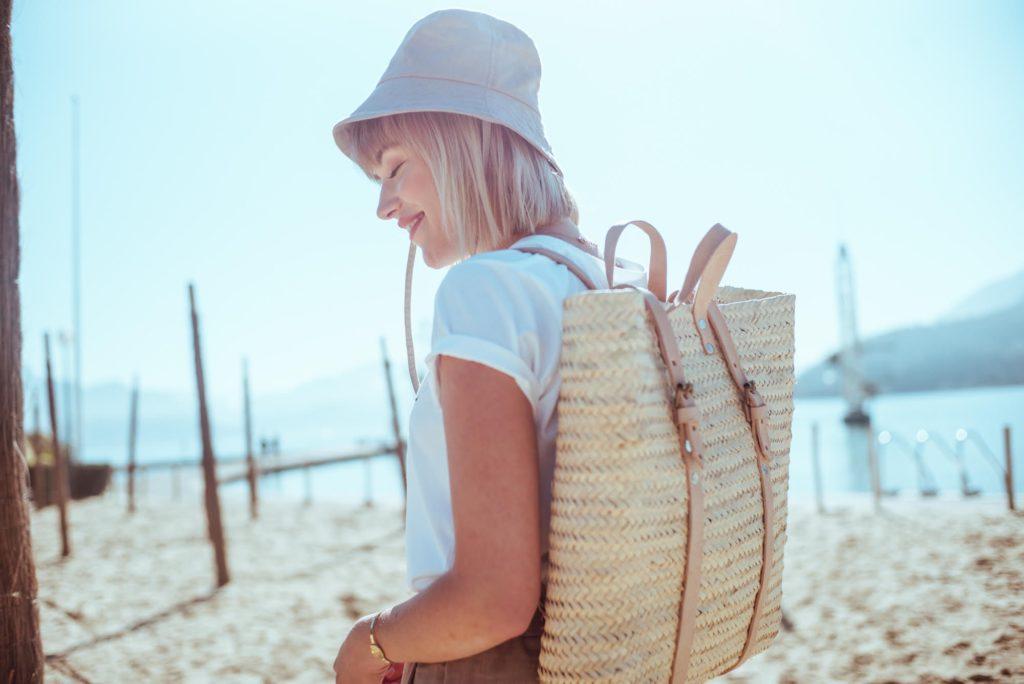Carrousel clothing mode éthique sac à dos paille
