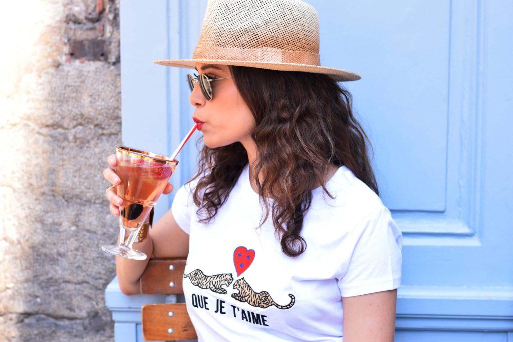 Kaipih mode éthique clothing chapeau de paille paille verre cocktail