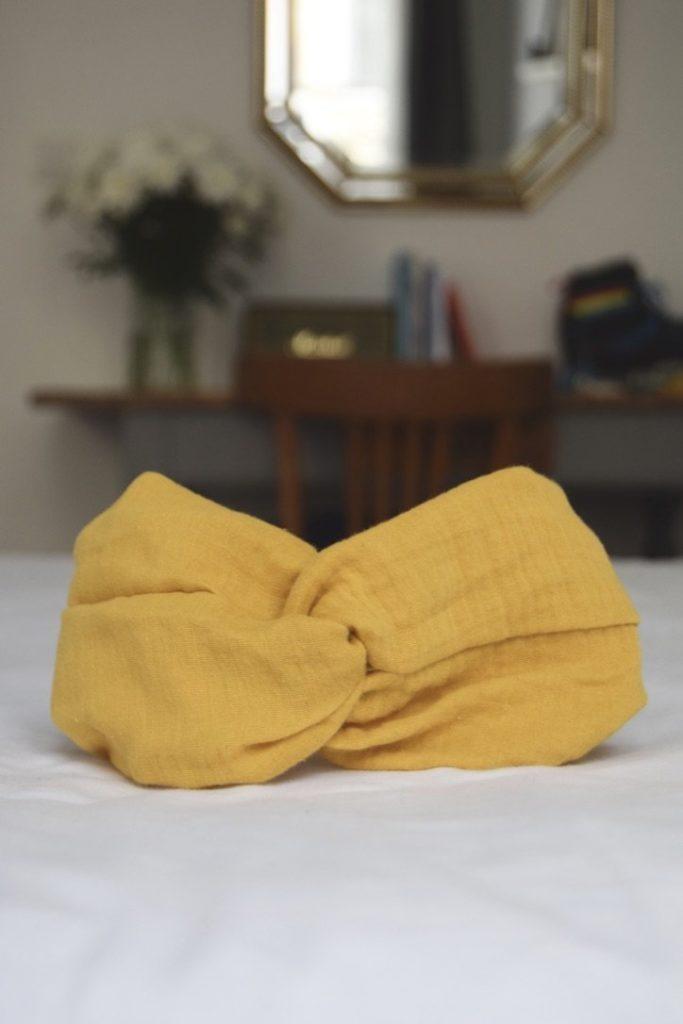 Maho mode éthique accessoires head band jaune