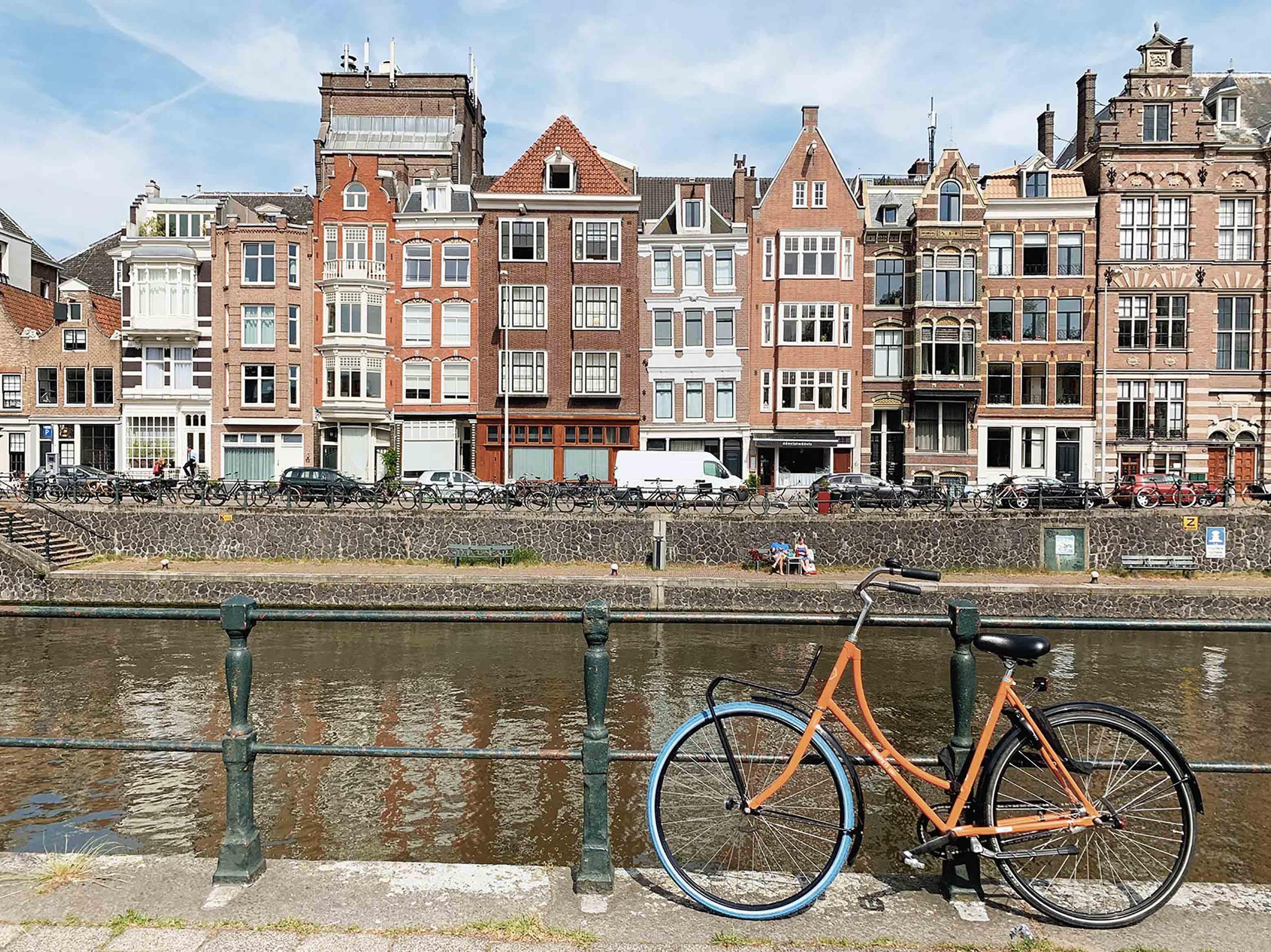 Amsterdam ville capitale habitations vélos