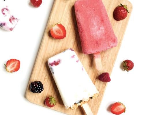 recettes glace healthy fruits rouges soi même