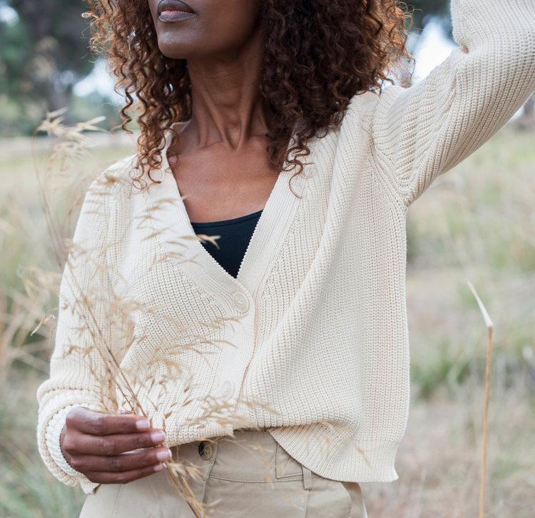anna organic cotton gilet éthique lenvers