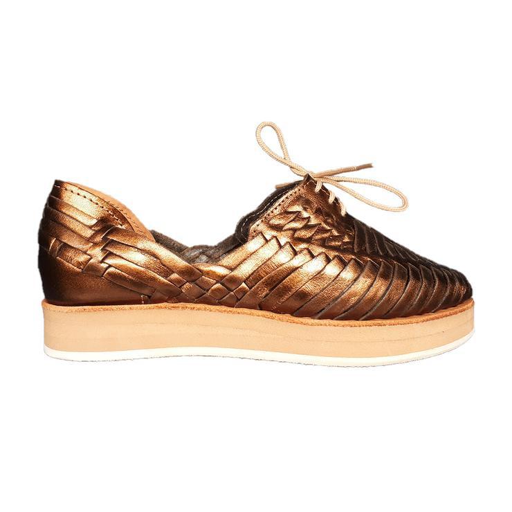 loreto chaussures bronze éthique cuir