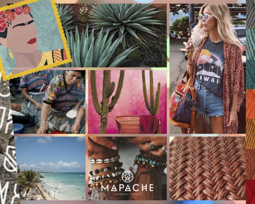 mapache moodboard visuels mexique voyage chaussure