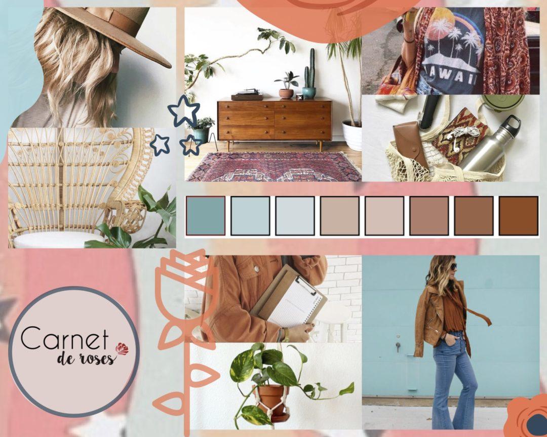 moodboard carnet de rose visuels créatif inspiration