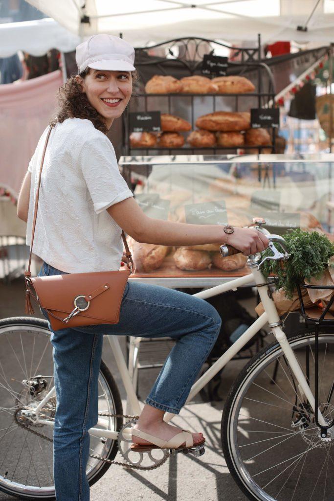 lady harberton éthique cuir vélo