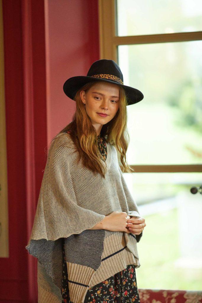 luzerne mode éthique chapeau poncho