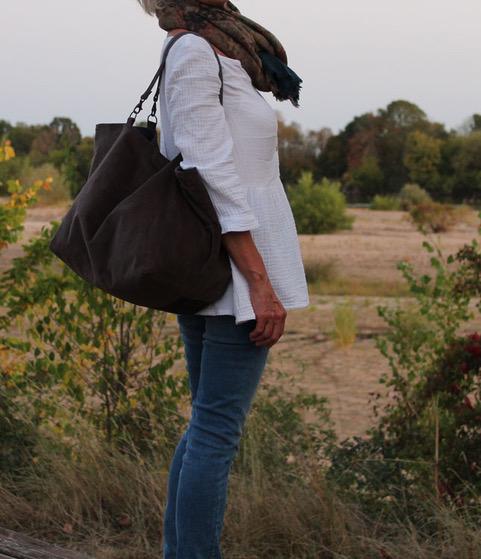 reine de boheme blouse nature upcycling
