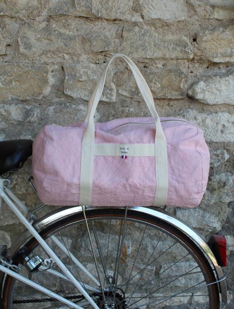 sac rose éthique marque française upcycling